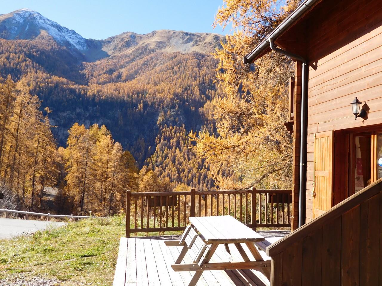 Terrasse Arnica en automne