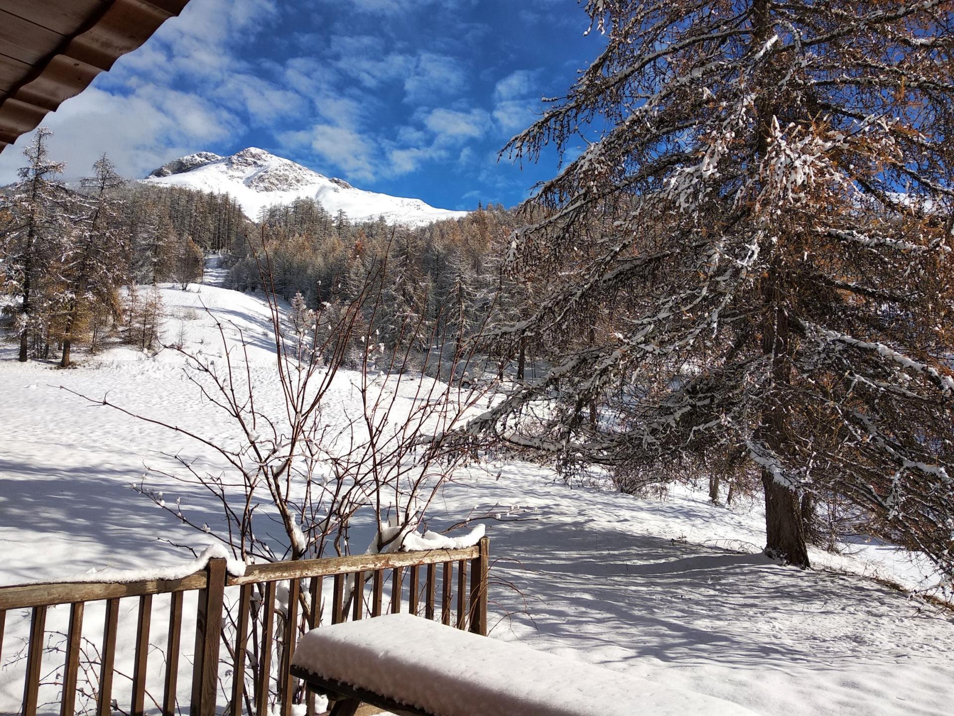 Aconit, terrasse et retour ski